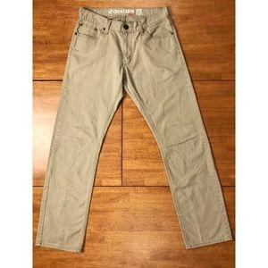 LEVIS 218 Slim Straight Fit Khaki Jeans 30 x 32